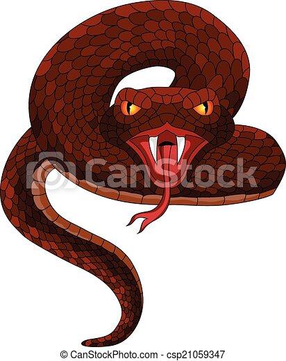 Vector Tattoo Snake - csp21059347