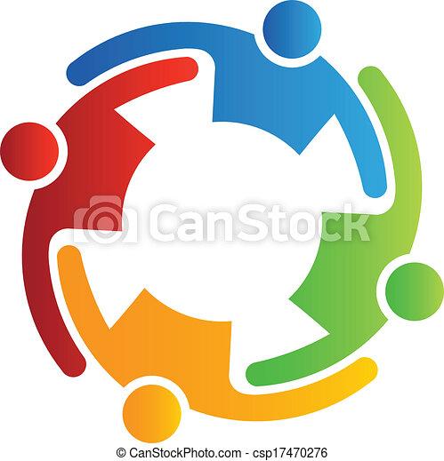Vector Teamwork Embrace 4 - csp17470276