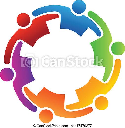 Vector Teamwork Embrace 6 - csp17470277