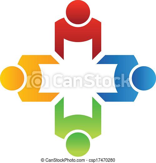 Vector Teamwork Group 4 - csp17470280
