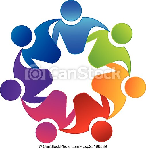 vector teamwork unity logo vector teamwork concept of vectors rh canstockphoto com logo vectors free download logo vector art