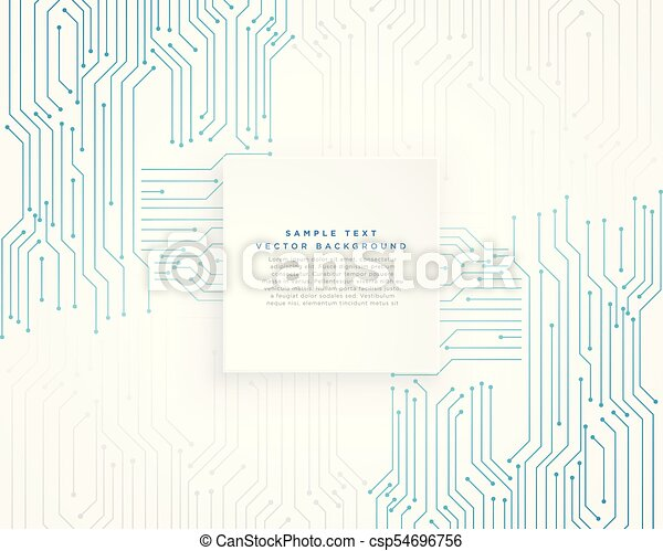 vector technology blue circuit diagram background - csp54696756
