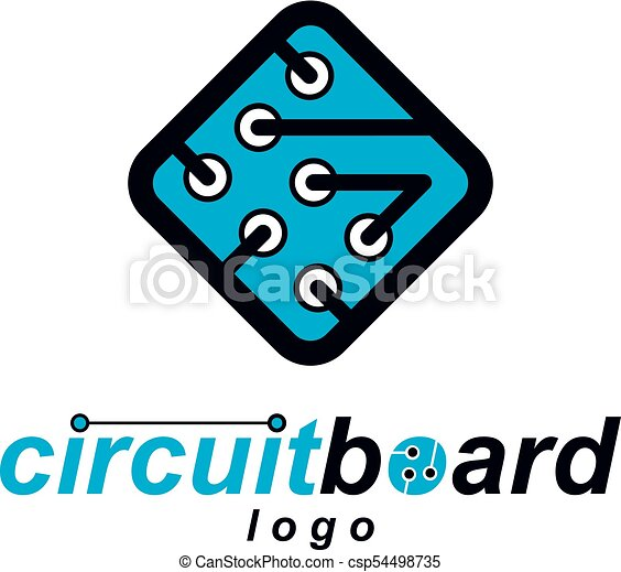 vector technology cpu design with square microprocessor vectors rh canstockphoto com circuit board clipart free circuit board clipart free