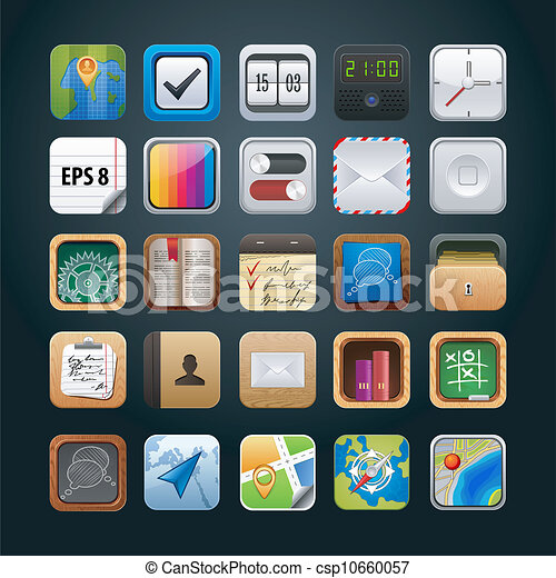Set of App Vector icons for Web - csp10660057