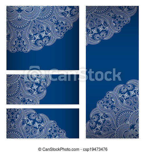 Vector templates floral pattern graphic designs. - csp19473476