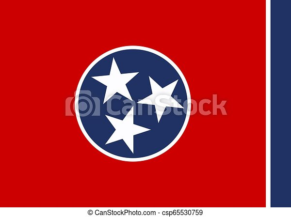 Vector Tennessee flag - csp65530759