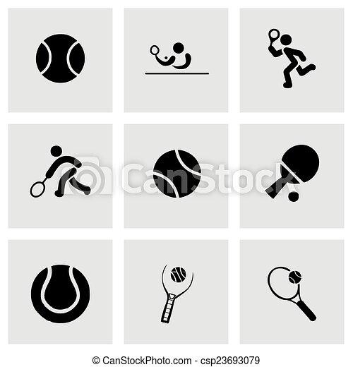 Vector tennis icon set - csp23693079