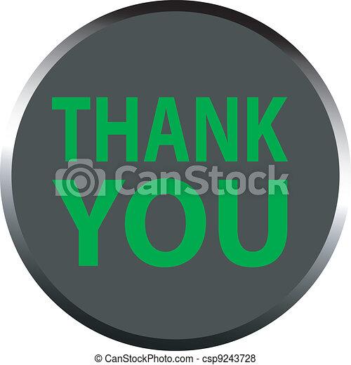 """vector """"thank you"""" - csp9243728"""