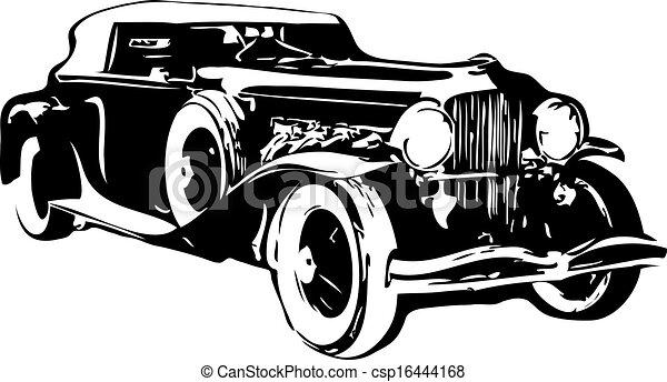 vector the retro car made in eps Real Cars vector the retro car