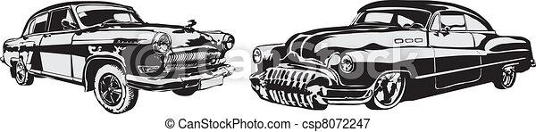 Vector - The retro car made in EPS - csp8072247