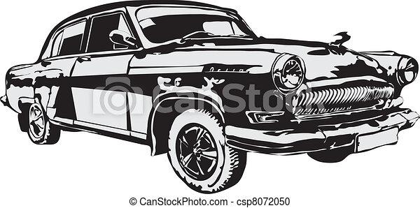 Vector - The retro car made in EPS - csp8072050