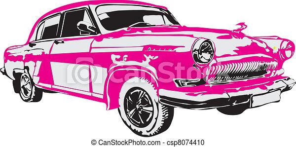 Vector - The retro car made in EPS - csp8074410