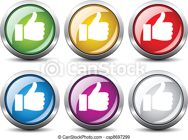 Vector thumb up buttons - csp8697299