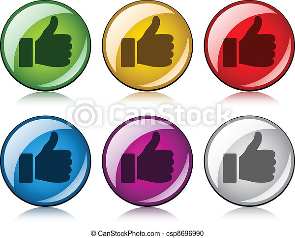 vector thumbs up buttons - csp8696990