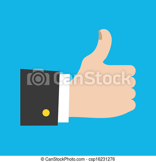 Vector Thumbs Up Icon - csp16231276