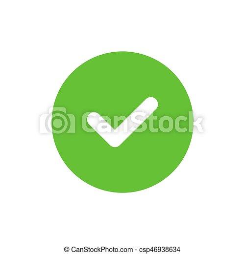 Vector Tick Icon Green Tick Icon Check Mark Symbol Simple Vector