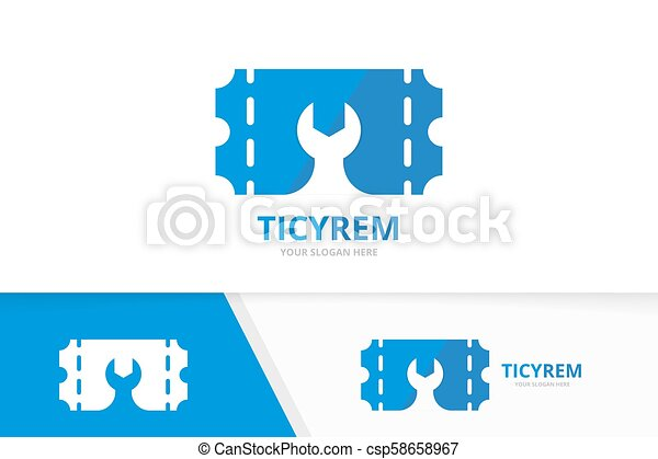 Fix A Ticket >> Vector Ticket And Repair Logo Combination Ducket And Fix Symbol Or Icon Unique Card And Service Logotype Design Template