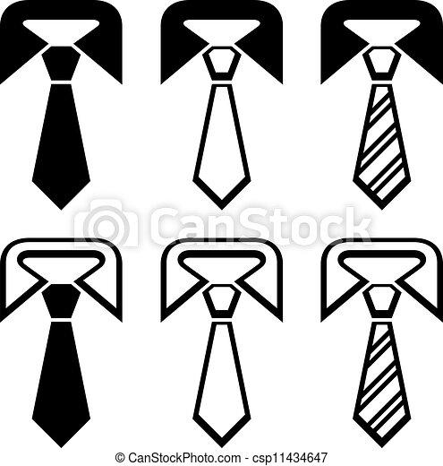 vector tie black symbols - csp11434647
