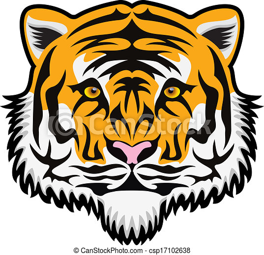 vector tiger face vector stylized tiger face rh canstockphoto com