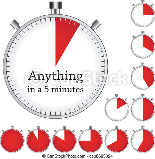 Vector timer - easy change time every one minute - csp8695024