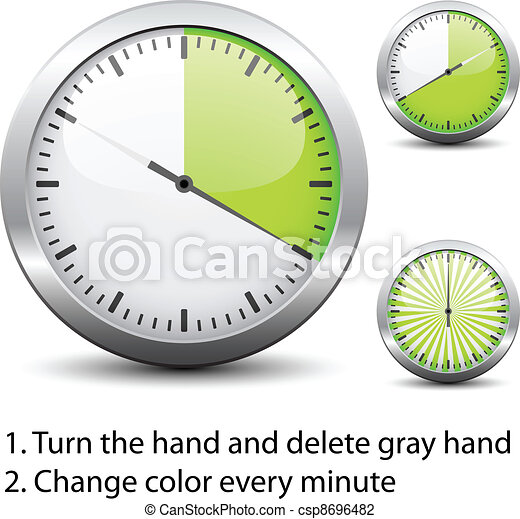 Vector timer easy change time every one minute vector illustration vector timer easy change time every one minute publicscrutiny Image collections