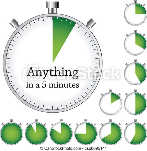 Vector timer - easy change time every one minute - csp8695141