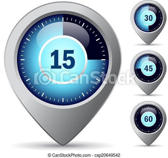 Vector timer icon - csp20649542