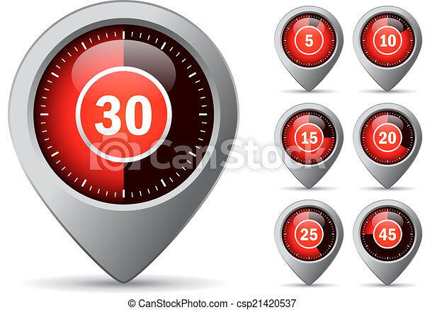 Vector timer icon - csp21420537