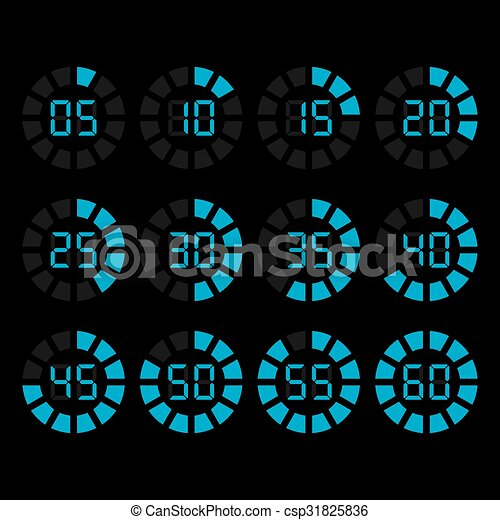 Vector timer icons set - csp31825836
