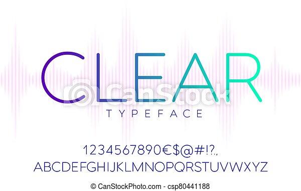 vector, tipografía - csp80441188