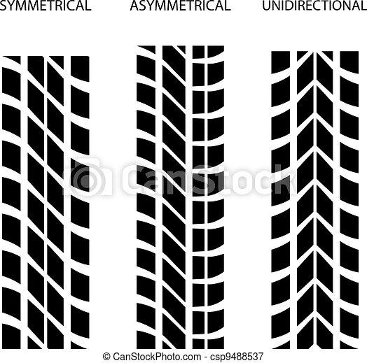 vector tire symmetrical asymmetrical unidirectional - csp9488537