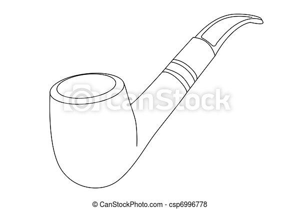 vector tobacco pipe - csp6996778