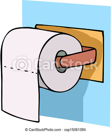 vector toilet paper on holder rh canstockphoto com toilet paper mummy clipart toilet paper holder clipart