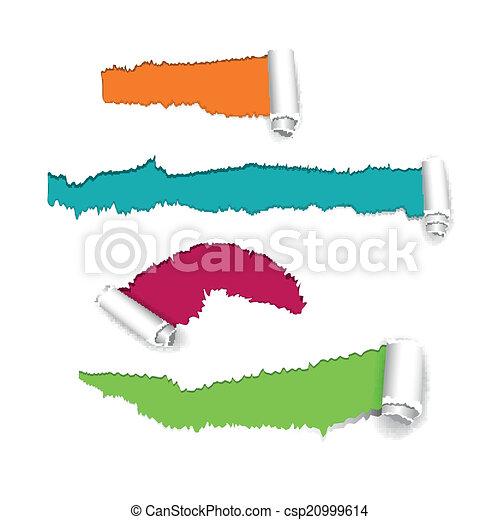 Vector Torn Paper - csp20999614