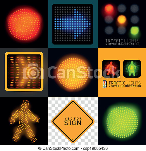 Vector Tracffic Lights Collection Vector Traffic Light Collection
