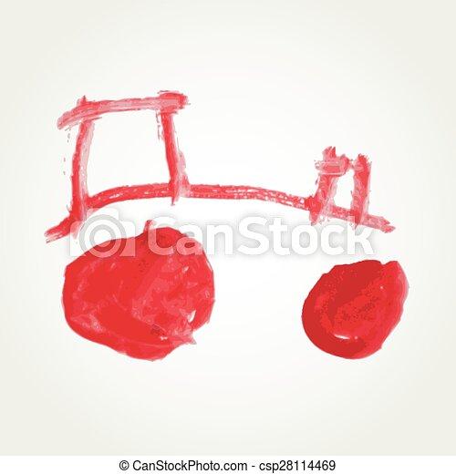 tractor vector - csp28114469