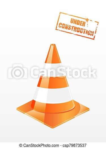 Vector traffic cone - csp79873537