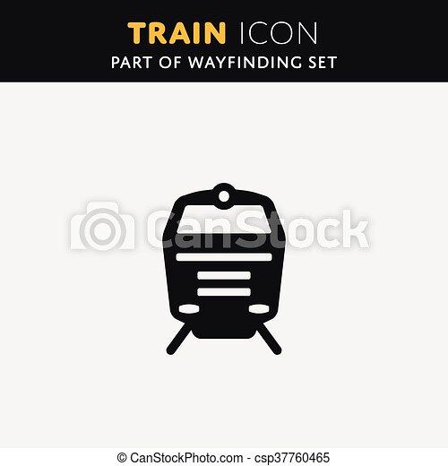 Vector Train icon - csp37760465