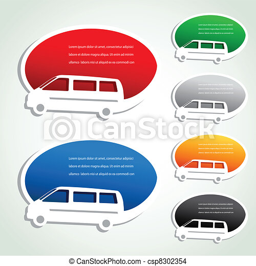 Vector transport pointers - car delivery - csp8302354