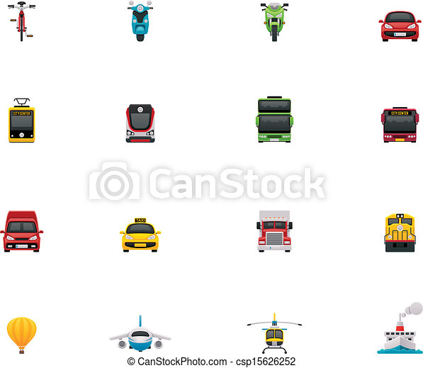 Vector transportation icon set - csp15626252