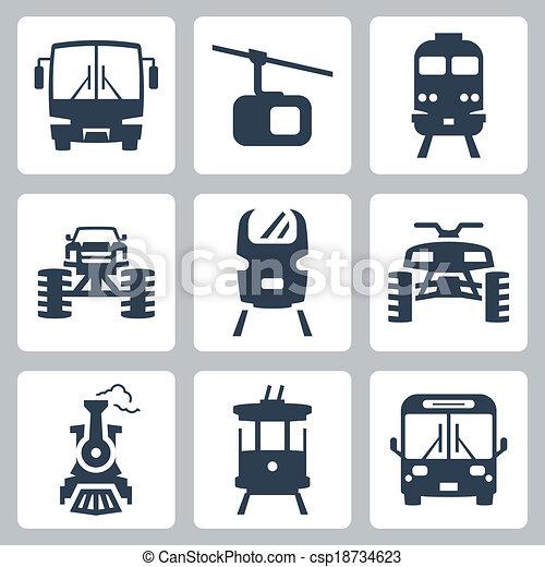 Vector transportation icons set - csp18734623