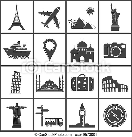 Vector travel and landmarks icons - csp49573001