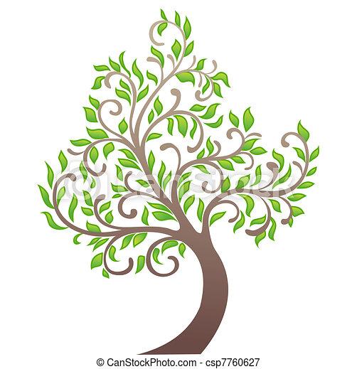 Vector tree illustration - csp7760627
