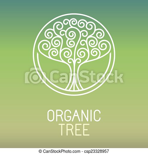 Vector tree logo - abstract organic - csp23328957