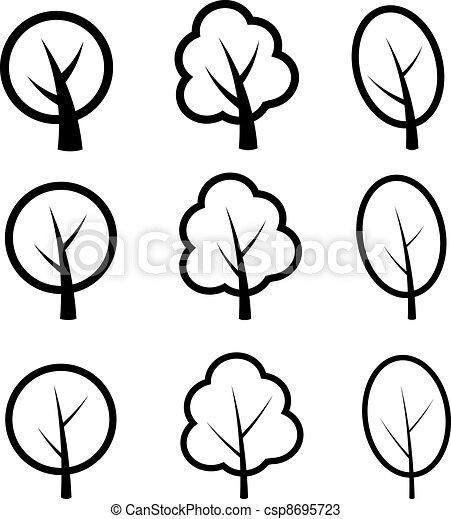 vector tree symbols - csp8695723