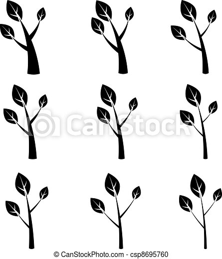 vector tree symbols - csp8695760