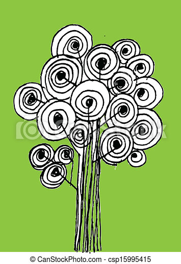 Vector trees with leaves - csp15995415