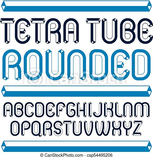 Vector Trendy Modern Capital Uppercase English Alphabet Letters Collection Unlike Rounded Type Font Script From A To Z Can Be Used For Logo Creation