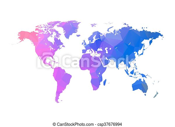 Vector triangle world map globe triangle concept world map concept gumiabroncs Image collections