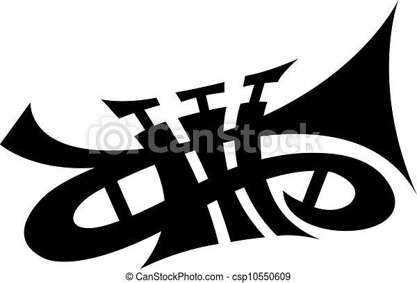 Trompeta del vector - csp10550609